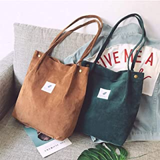 Damen Handtasche Student Cord Handtasche lässig einfarbig Single Shoulder Bag Wiederverwendbare Strandtasche
