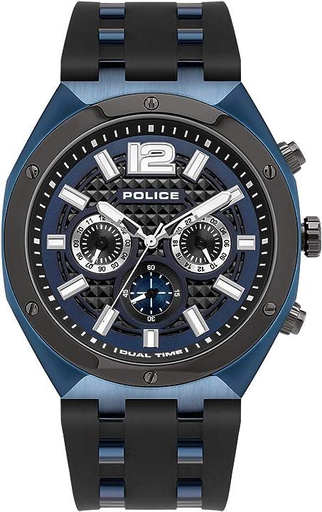Orologio police parure di gioielli uomo acciaio_inossidabile - pl15995jsblu.03p PL.15995JSBLU-03P