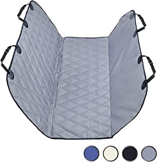 Dog Car Seat Covers with Universal Fit, Quilted & Durable 600 Denier Oxford Pet Car Seat Protectors with Anti-Slip Backing for Most Cars, SUVs & MPVs,2 Sizes & 4 Colors Available