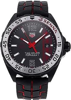 Men's Formula 1 Black Dial Black & Red Rubber Strap Quartz Watch WAZ1014.FT8027