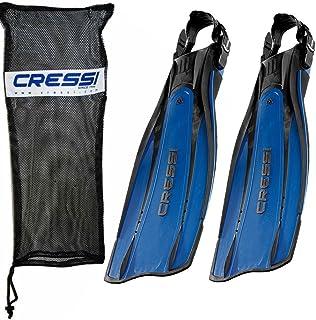 زعانف غوص كريسي برو خفيفة مفتوحة للكعب، زرقاء مع حقيبة، صغير/متوسط - US رجالي 10/12