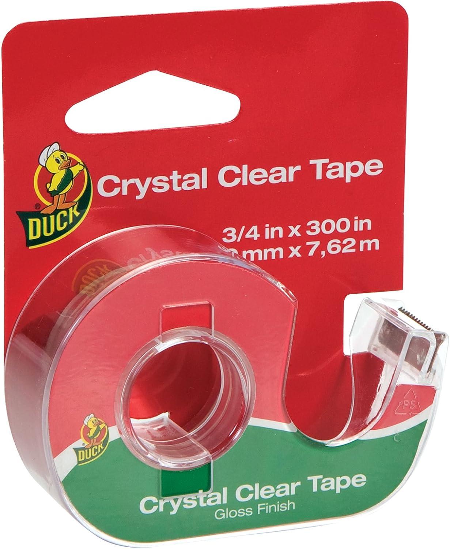 Duck Brand Crystal Clear Tape mit mit mit Dispenser, glänzend, 3 4-Zoll x 300 Zoll, Single Roll (667739) B002BW4A56 | Die Qualität Und Die Verbraucher Zunächst  d8875d