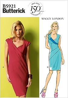 قالب خياطة فستان من Butterick Patterns B5921 Misses، مقاس F5 (16-18-20-22-24)