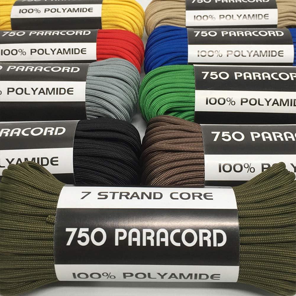 ASEEBY 100 Feet Paracord High Strength Nylon Rope 750lbs Military Grade Braid Rope
