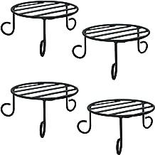 Trust Basket Metal Pot Stands (Black, Pack of 4)