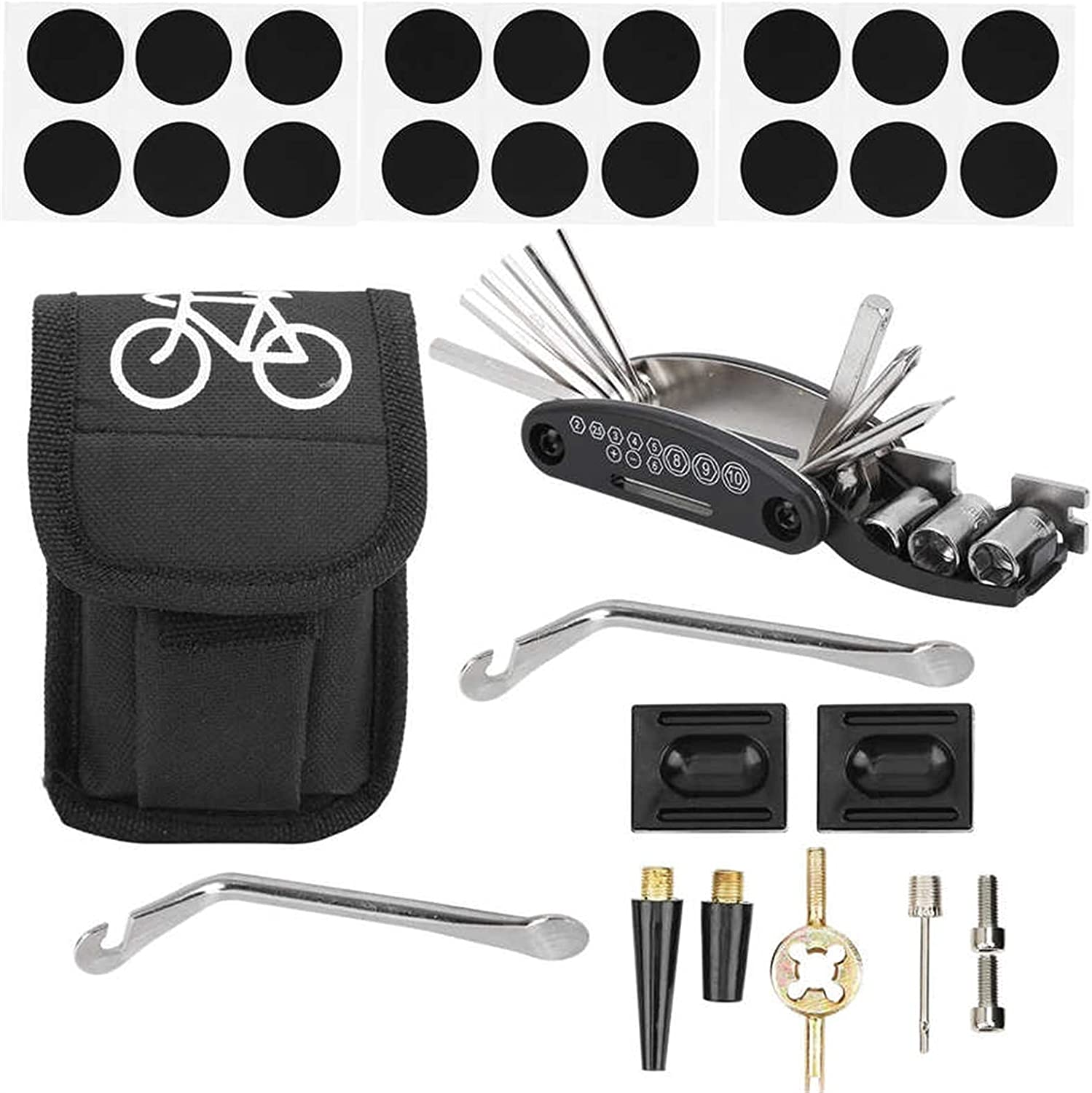 HHUPII 1 Set Bike Tyre Repair Kit Limited Special Price in Tire Bag Lever Portable 16 Max 53% OFF