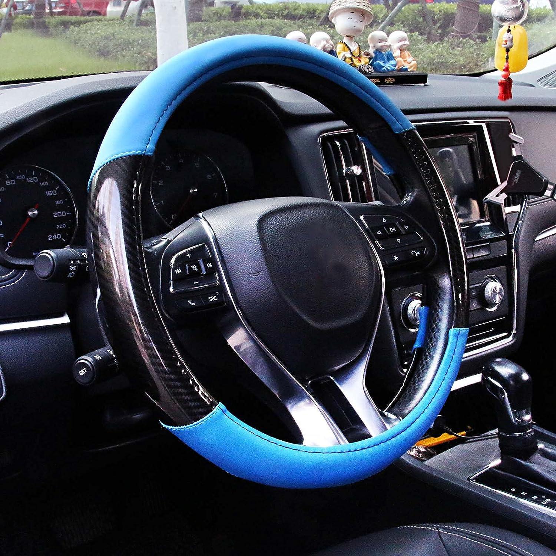 AOTOMIO Car 2021 Steering Wheel 2021 model Cover Pattern Blue Wavy W 3D