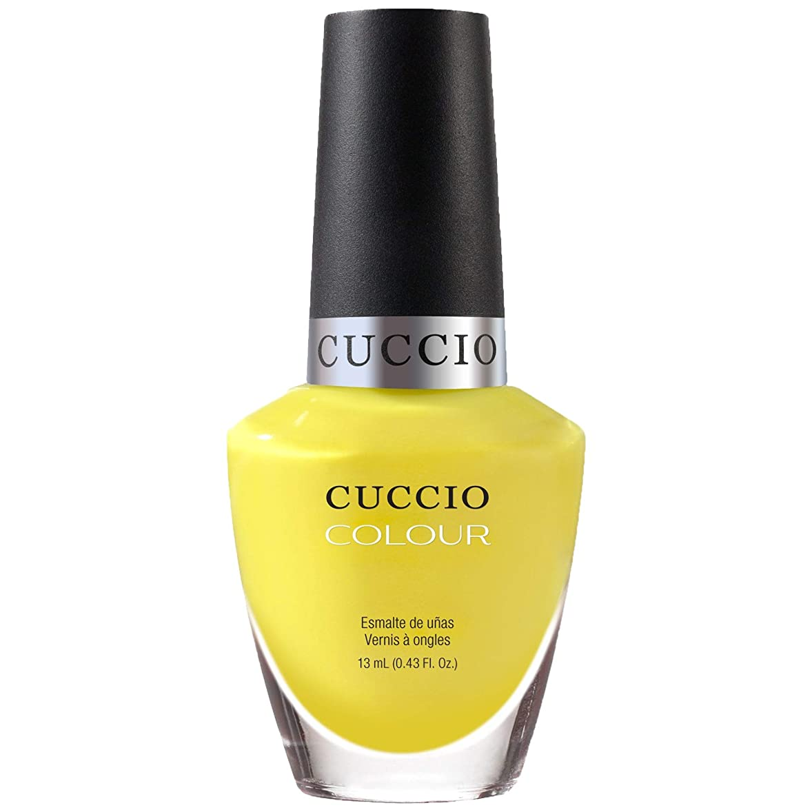 浮く子豚賞賛するCuccio Colour Gloss Lacquer - Lemon Drop Me A Line - 0.43oz / 13ml