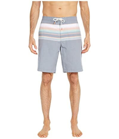 Tommy Bahama Baja Sanders Beach Stripe Swim Trunks (Ocean Deep) Men