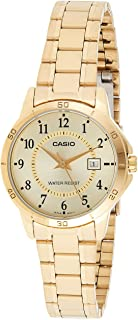 Casio LTP-V004G-9B For Women- Analog, Casual Watch, Stainless Steel