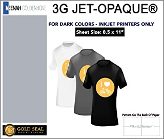 3G Jet Opaque Inkjet Heat Transfer Paper 8.5x11 10 Sheets