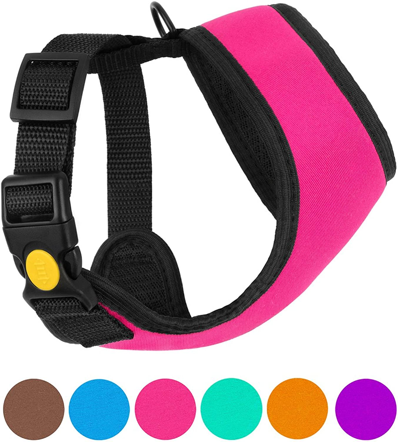 CollarDirect Soft Mesh Dog Harness Small Neoprene Puppy Padded Vest Adjustable Outdoor Pet Harnesses for Small Medium Dogs Pink bluee Purple orange (XS, Pink)