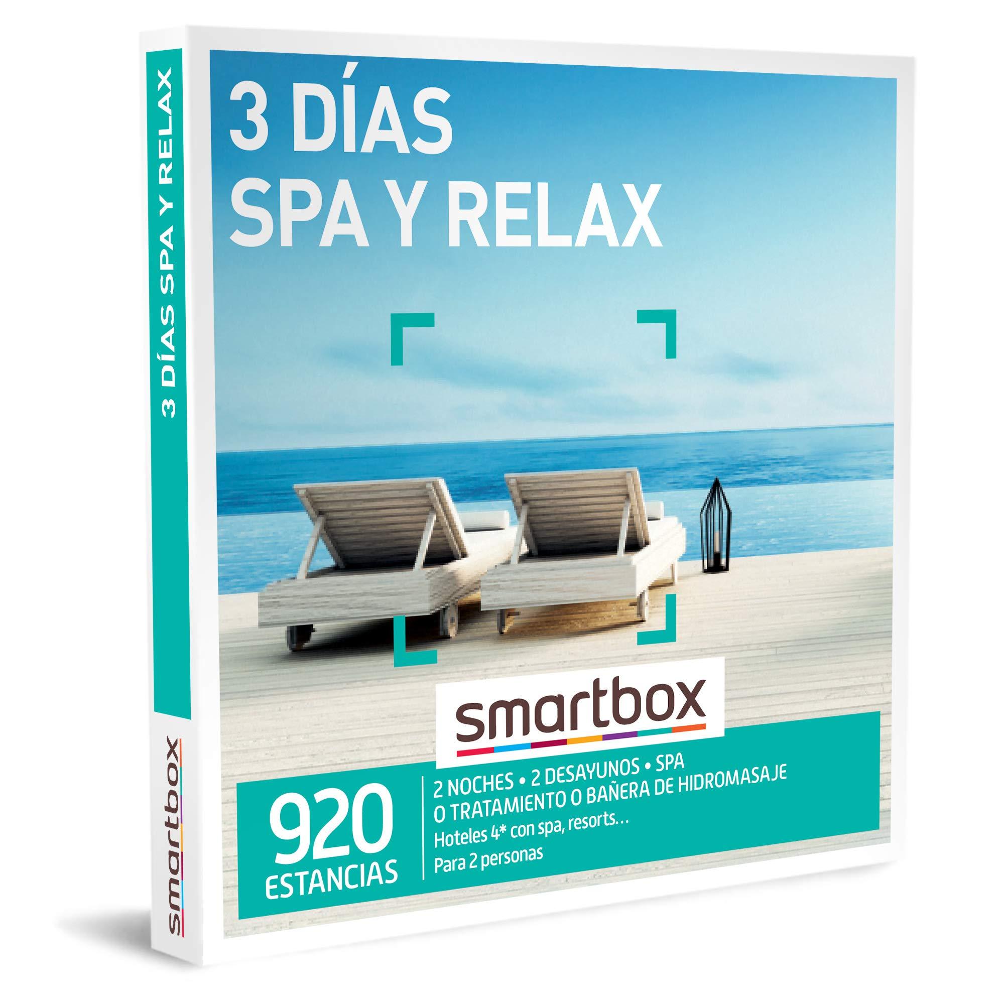 SMARTBOX - Caja Regalo - 3 días SPA y Relax - Idea de Regalo - 2 Noches con Desayuno y Acceso SPA, Tratamiento o bañera de hidromasaje para 2 Personas: Amazon.es: Deportes y aire libre