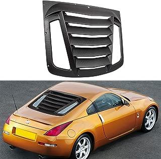 Rear Window Louver for 2003-2008 Nissan 350Z Matte Black ABS Window Visor Sun Shade Cover Vent