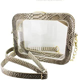 Capri Designs Clear Crossbody Camera Bag, Small, Transparent Stadium Approved, Adjustable Shoulder Strap, PVC