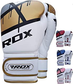 RDX Boxing Gloves for Training & Muay Thai - Maya Hide Leather Mitts for Fighting, Kickboxing, Sparring - EGO Glove for Punch Bag, Focus Pads, Thai Pad, Grappling Dummy and Double End Ball Punching