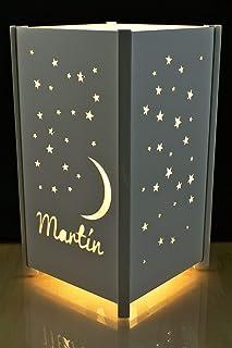 Lámpara personalizada para decoración infantil regalo de cumpleaños y comuniones.