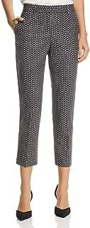Theory Womens Treeca 2 Wool Blend Printed Cropped Pants
