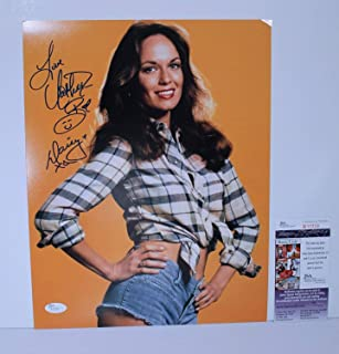 Daisy Duke Catherine Bach Autographed Signed Memorabilia 11x14 Photo Cut Off Shorts Plaid Shirt JSA Coa