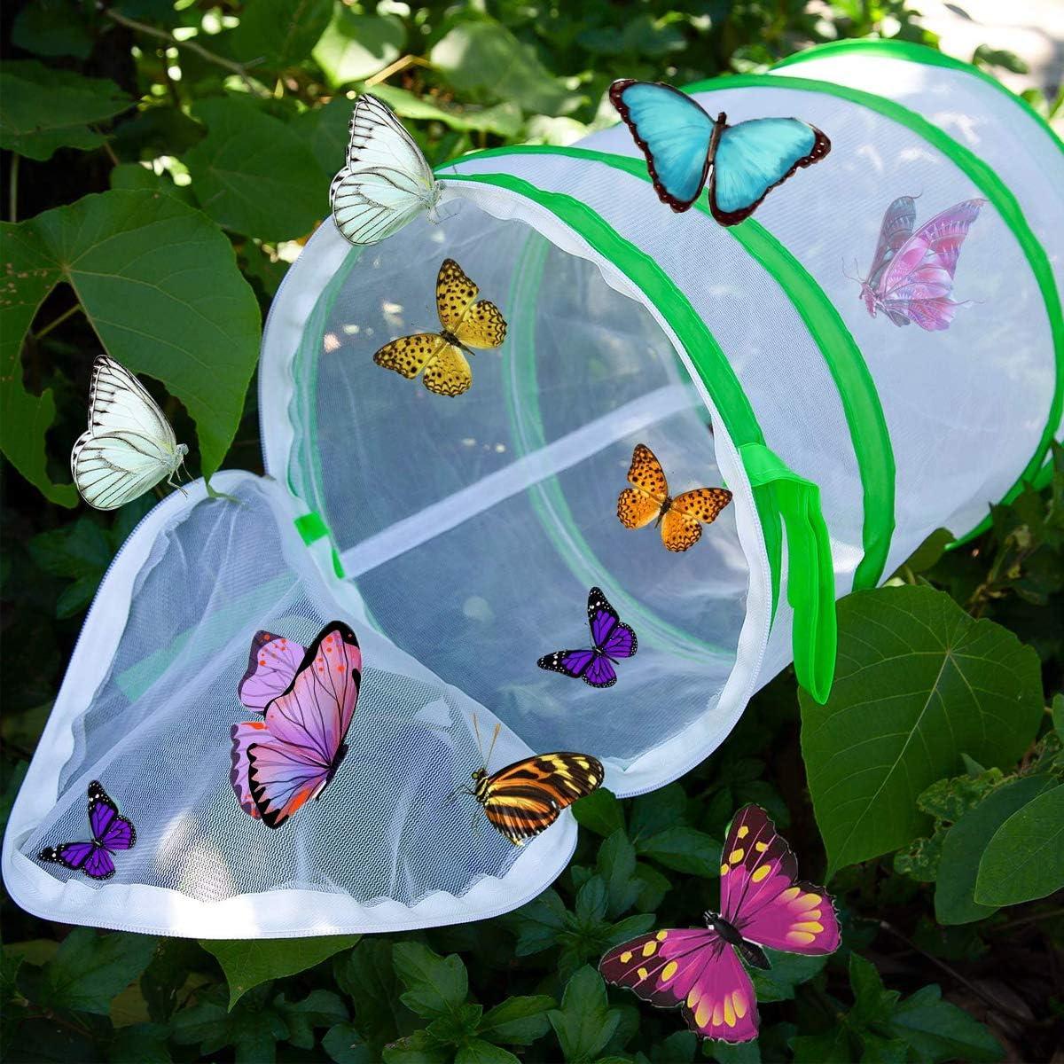 Yueser Schmetterling Lebensraum K/äfig Insekten und Schmetterling Habitat Zusammenklappbar Pop-up Schutz K/äfig Net Mesh Insekten Pflanzenk/äfig