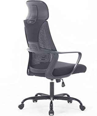 Sidanli Mesh Office Chair Ergonomic Home Desk Chair High Back Computer Task Chair with Adjustable Headrest