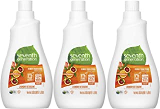 Seventh Generation Plant-based Concentrated Fabric Detergent Liquid Citrus, 1L (Pack of 3)