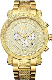 ساعة كرونوغراف فاخرة للرجال من جيه بي دبليو فيكتور، بمينا ذو 16 الماسة - JB-8102-A