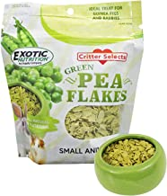 Exotic Nutrition Pea Flakes - Healthy & Unique Treat - Rat, Degu, Prairie Dog, Chinchilla, Hedgehog, Parrot, Guinea Pig, Rabbit, Hamster