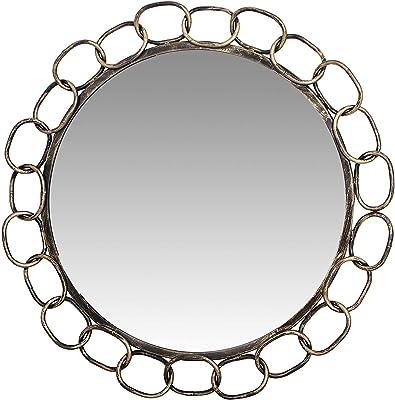 "Quality Glass Round Shape Decorative Mirror Black and Gold Antique Finish Decorative Round Wall Mirror 32""x32""MFM 24"