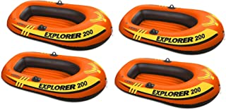 Intex Explorer Pro 200 Inflatable Youth Pool Boat Raft (Raft Only) (4 Pack)