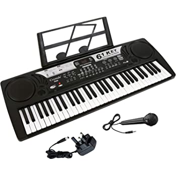 61 Keys Teaching Type Electronic Keyboard Digital Music Instrument Piano /& Microphone by Crystals/®