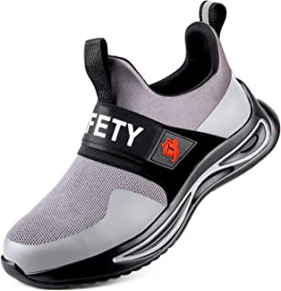 Safety Trainers for Men Women-Steel Toe Cap Shoes Breathable Lightweight Puncture Proof Work Sneakers Non Slip Industrial ...