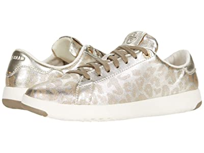 Cole Haan GrandPro Tennis Sneaker (Soft Gold Leopard Perf Print) Women