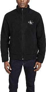 Men's Sherpa Fleece Zip Up Logo Sweatshirt
