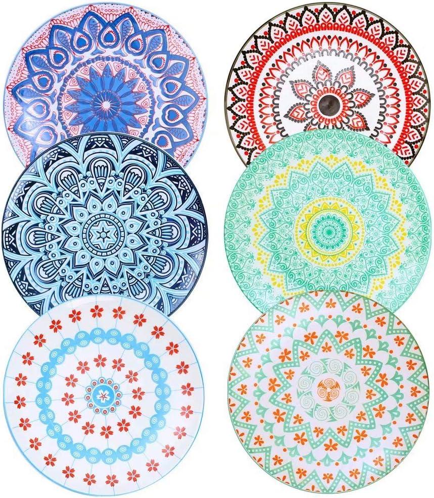 Farielyn-X Sacramento Mall 6 Pack discount Porcelain Dinner 10.5 Inch Plates Diameter -