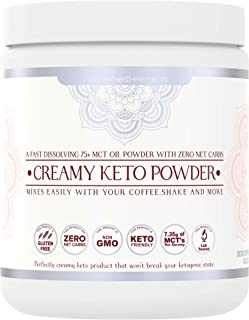 MCT Oil Powder by Nutrient Elements - Fast Dissolving Keto Creamer for Coffee - Perfectly Creamy Keto - 40 Servings (10.5 oz)