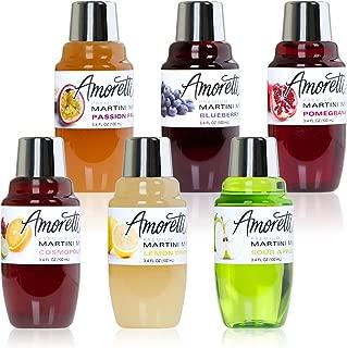 Amoretti Premium Martini Cocktail Mix Minis, 3.4 fl oz 6 Pack