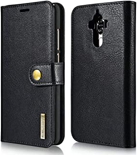 Vintage Genuine Leather Flip Credits Cards Slots Case Magnet Buckle Protection Anti Fall Shell Full Cover For Huawei Mate 9 -Black