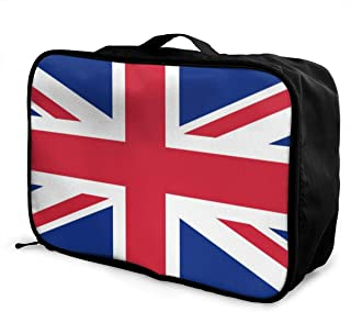Union-jack Travel Carry-on Luggage Weekender Bag Overnight Tote Flight Duffel In Trolley Handle