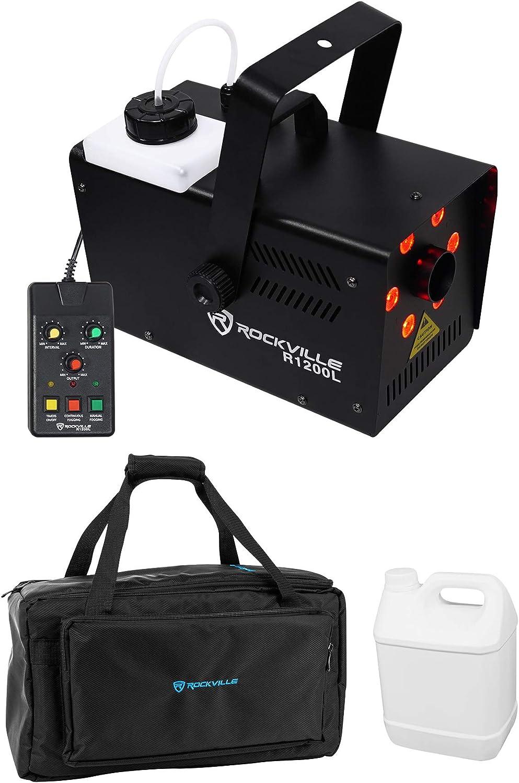 Rockville R1200L Fog Smoke Machine Dealing full price reduction w Strobe+2 LED Lights Remotes Sale item