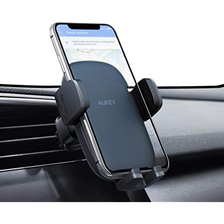 2020 Upgraded AUKEY Phone Car Holder with Stronger Vent Clip, Hands Free Cell Phone Holder for Car, Universal Air Vent Car Phone Mount Compatible with iPhone 12 Pro Max/11 Pro/11/XS Max/XS/8 and More
