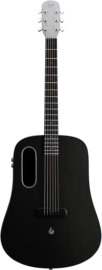 Chitarra in fibra di carbonio con effetti chitarra elettrica acustica professionale con custodia lava me pro B088K122JK