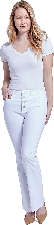 Seven7 Women's High Rise Flip-Flop Flare Fit Jean