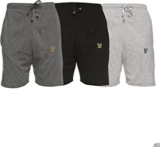 VIMAL JONNEY Multicolor Cotton Shorts for Men(Pack of 3)-N1-an_BL_ML_03-P