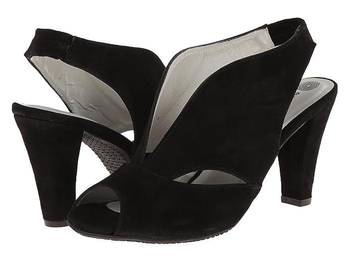 1940s Style Shoes, 40s Shoes Eric Michael Peru Black Womens  Shoes $149.95 AT vintagedancer.com
