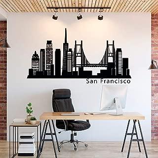 SAN Francisco Skyline Vinyl Wall Decal Decor Sticker Vinyl Removable USA City Silhouette Office Business Real Estate Decor Cityscape Vinyl Wall Art Made in USA Vinyl