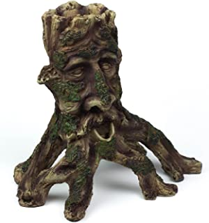 tree face aquarium ornament