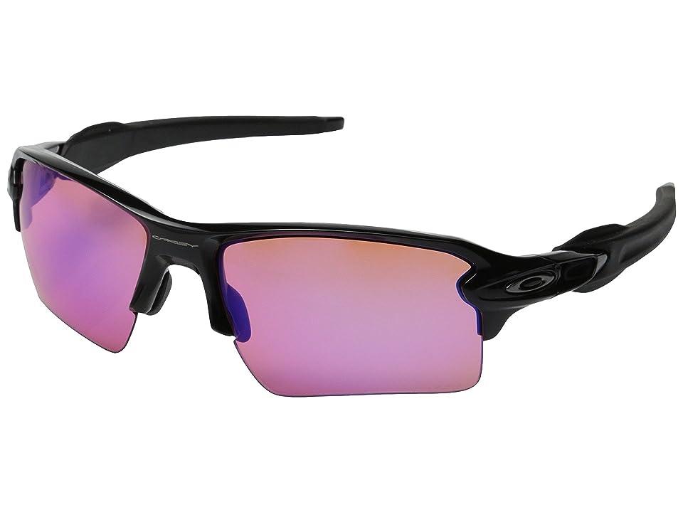 Oakley Flak 2.0 XL (Polished Black w/Prizm Trail) Sport Sunglasses