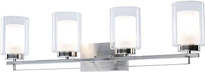 Polished Chrome Finish Glacier Collection PLC Lighting 3483 PC 3 Light Vanity