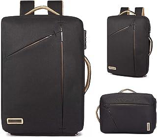 Neuleben Multifunktional 15.6 Zoll Laptop Rucksack Handtasche Diebstahlschutz Wasserfest Business Aktentasche Notebooktasche für Damen Herren Schwarz